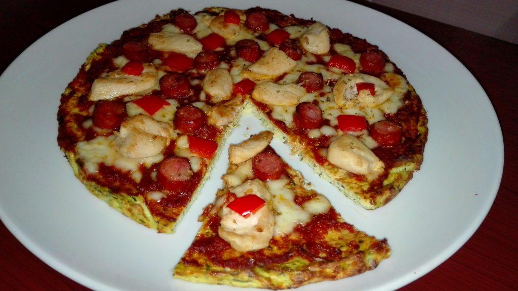 pizza fara gluten keto din dovlecel