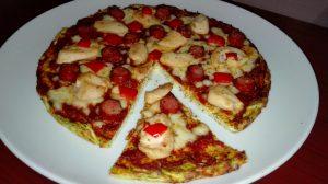Pizza cu blat de dovlecel