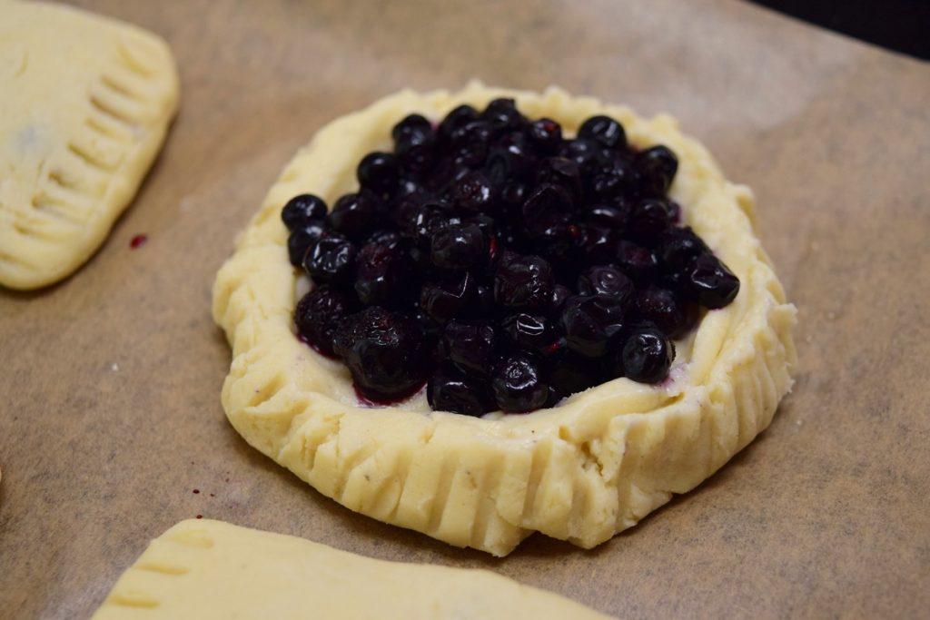 mini tartă fără gluten cu afine